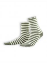 Socken Alexis (2-er Pack) von Living Crafts in olive/sand
