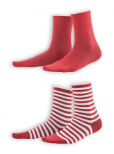 Socken Alexis (2-er Pack) von Living Crafts in poppy/white