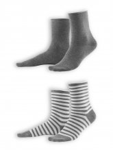 Socken Alexis (2-er Pack) von Living Crafts in stone grey/melange white