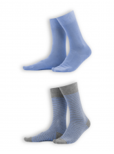 Socken Arni (2er Pack) von Living Crafts in azur/grey