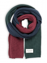 Strickschal von recolution in autumn red/ navy / green