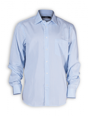 Hemd Rovaniemi von brainshirt in blau-weiß