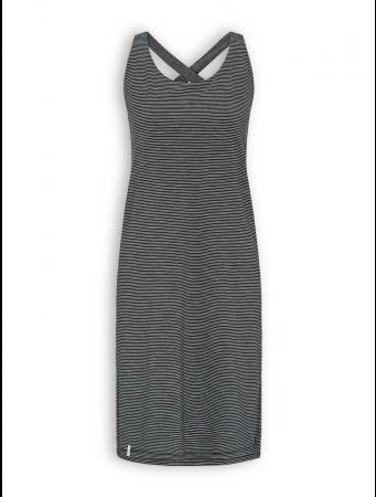 Kleid von Recolution in black/white striped