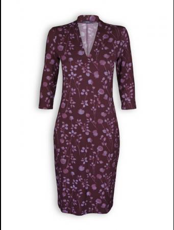 Kleid Ella von Lana in Muster Syrina bordeaux