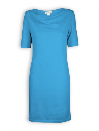 Kleid mit Wasserfallkragen von Madness in blue
