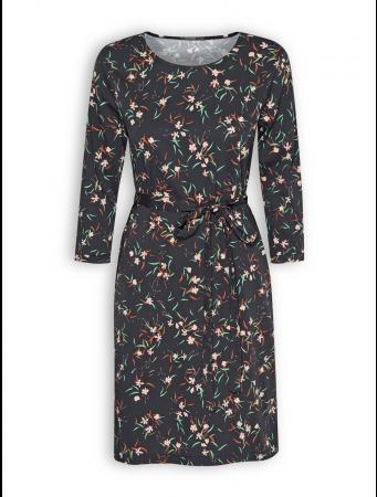 Kleid Swish von GreenBomb in Nightflowers black