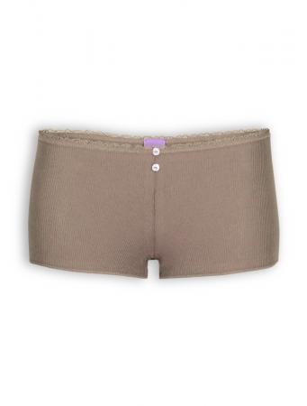 Pants mit Spitze von Living Crafts in deep taupe