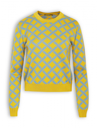 Pullover Gracile von GreenBomb in yellow blue check