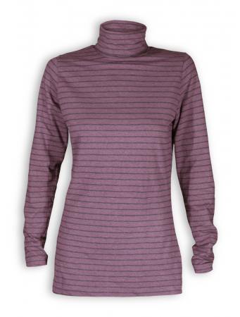 Rollkragen-Shirt von Living Crafts in berry/anthracite