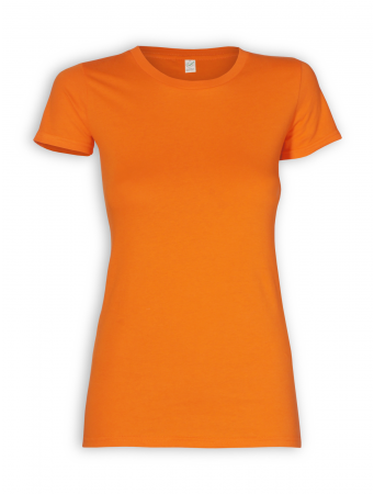 Slim Fit T-Shirt von EarthPositive in orange