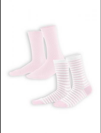 Socken Alexis (2-er Pack) von Living Crafts in rosé/white