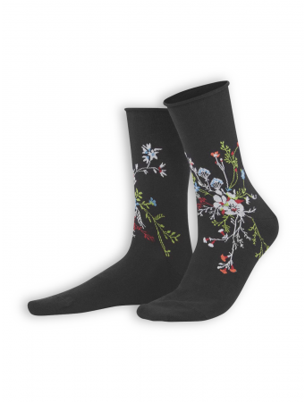 Socken Hina von Living Crafts in black/flower