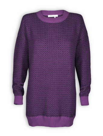 Strickkleid/Longpullover von recolution in berry/black