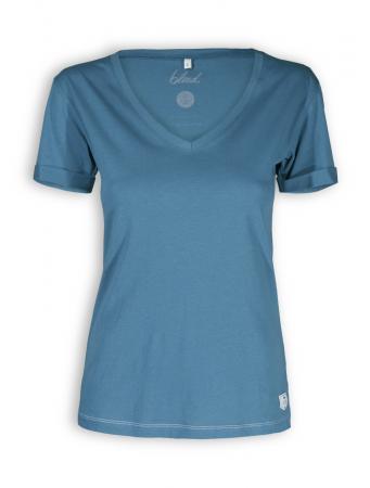 V-Neck T-Shirt von Bleed in legion blue