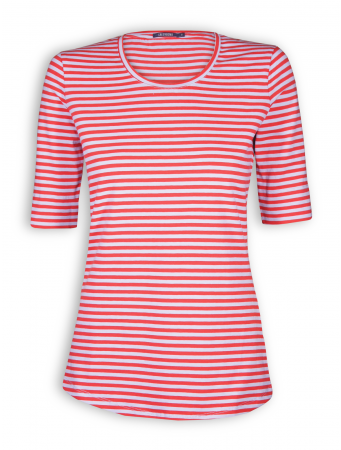 T-Shirt von GreenBomb in red/grey stripes