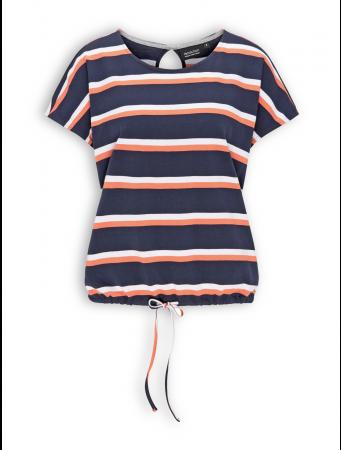 Oversize T-Shirt von recolution in navy / coral / white