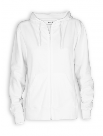 Zip Hoodie von Neutral in white