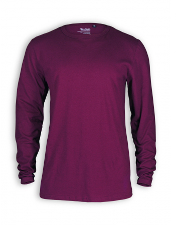 Basic Longsleeve von Neutral in bordeaux