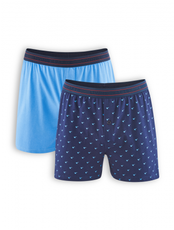 Boxer Short Ethan (2er Pack) von Living Crafts in navy/azur