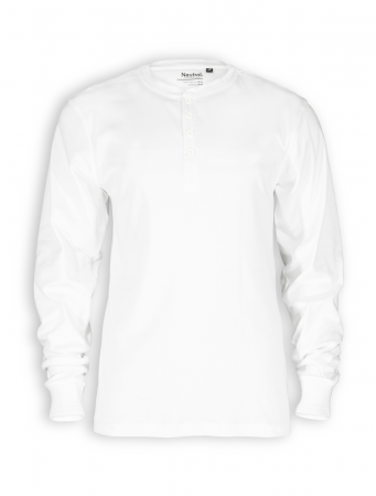 Longsleeve Granddad von Neutral in white