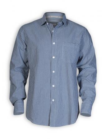 Hemd Butch von HempAge in blau gestreift
