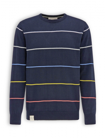 Leichter Strickpullover von recolution in navy striped