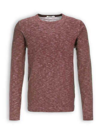 Leichter Sweatpullover Buff von GreenBomb in heather bordeaux