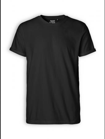 Roll up Sleeve T-Shirt von Neutral in black
