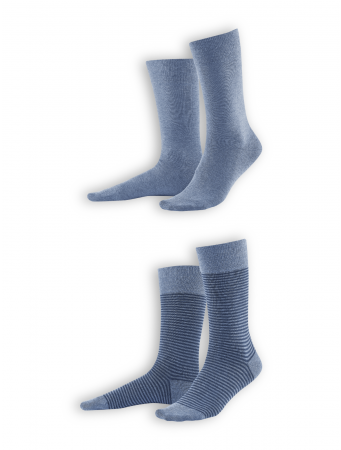 Socken Arni (2er Pack) von Living Crafts in infinity blue melange