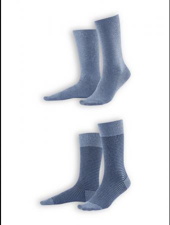Socken Arni (2er Pack) von Living Crafts in infinity blue melange