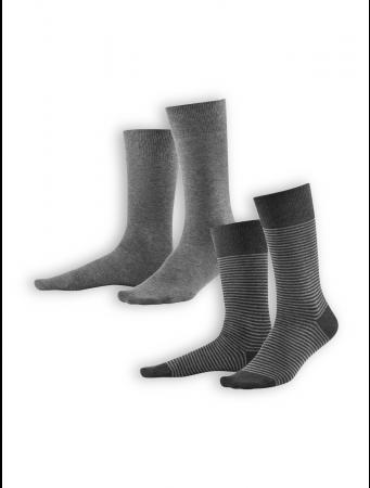 Socken Arni (2er Pack) von Living Crafts in stone grey/anthra melange