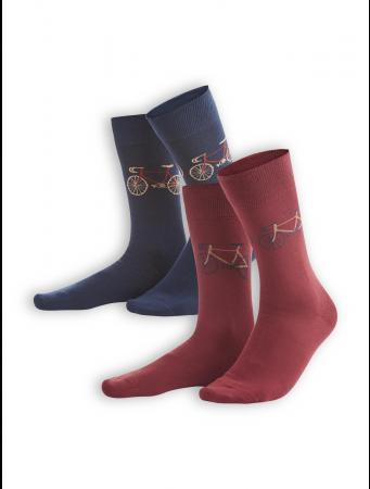 Socken Falk (2er Pack) von Living Crafts in navy/rosso