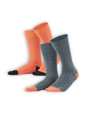 Socken Gero (2er Pack) von Living Crafts in asphalt/pepper