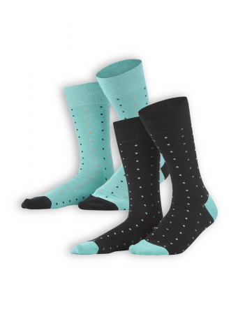 Socken Gero (2er Pack) von Living Crafts in black/lagoon