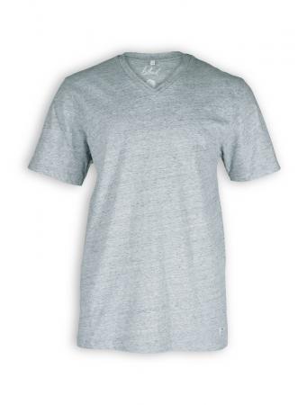 V-Neck T-Shirt von Bleed in grey melange