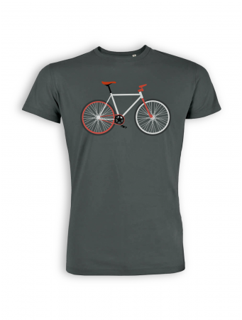 T-Shirt von GreenBomb in anthracite mit Print Bike