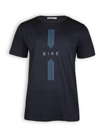 T-Shirt von GreenBomb in black mit Print Bike Drive