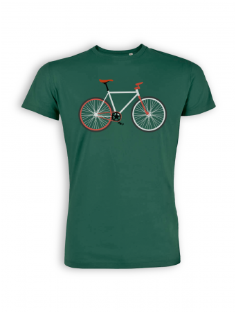 T-Shirt von GreenBomb in bottle green mit Print Bike