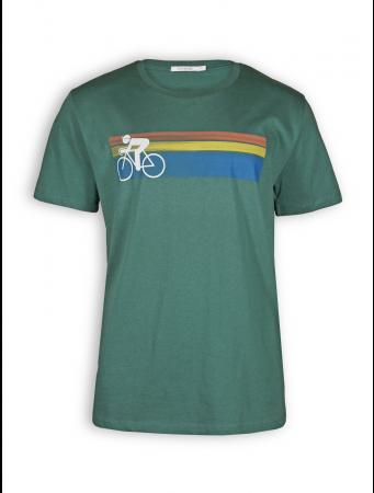 T-Shirt von GreenBomb in bottle green mit Print Bike Speed