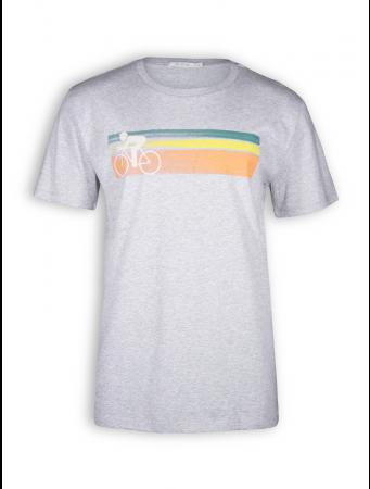 T-Shirt von GreenBomb in heather grey mit Print Bike Speed
