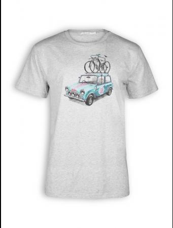 T-Shirt von GreenBomb in heather grey mit Print Bike Rallye