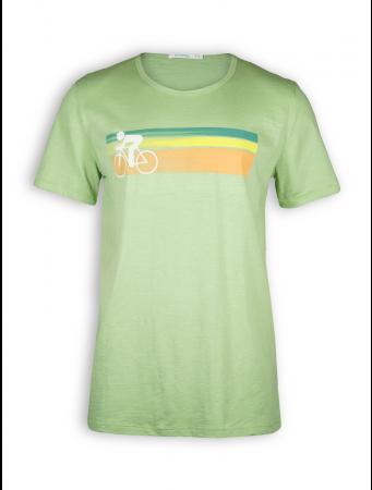 T-Shirt von GreenBomb in pale green mit Print Bike Speed