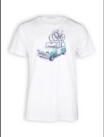 T-Shirt von GreenBomb in white mit Print Bike Rallye