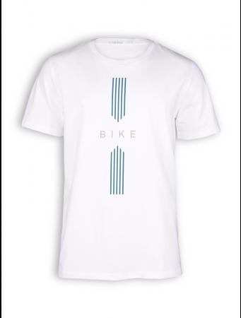 T-Shirt von GreenBomb in white mit Print Bike Drive