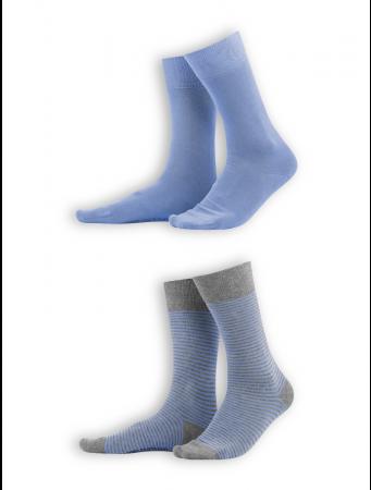 Socken Arni (2er Pack) von Living Crafts in azur/grey