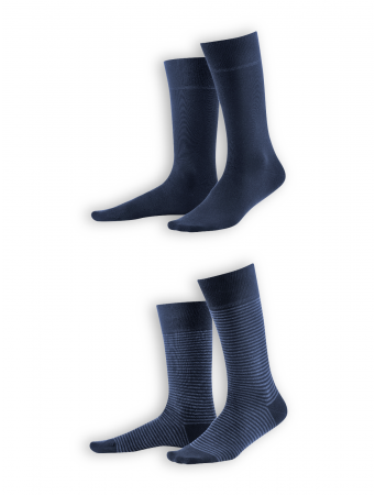 Socken Arni (2er Pack) von Living Crafts in dark navy/indigo melange