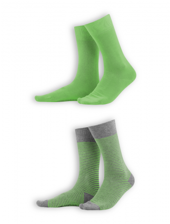 Socken Arni (2er Pack) von Living Crafts in lime/grey