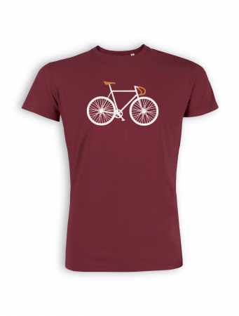T-Shirt von GreenBomb in burgundy mit Print Bike Two