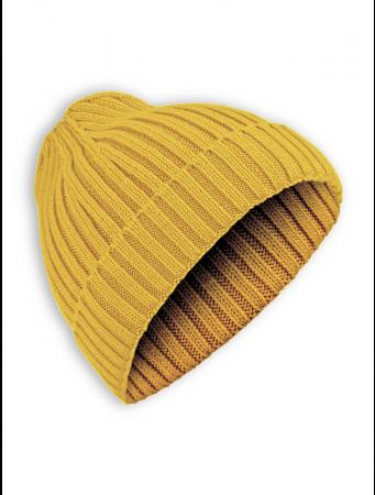 Strickmütze Happy von GreenBomb in golden yellow