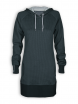 Hoodie-Kleid / Longhoodie von recolution in graphite